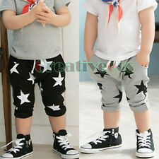 Fashion Kids Boys Girls Stars Harem Pants Trousers Toddlers Short Pants 2-7Years