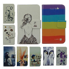 For Alcatel case Wallet Card DELUXE leather cartoon cute Cover