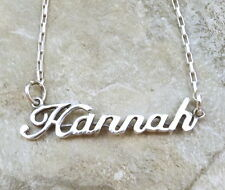 Sterling Silver Name Necklace - Hannah -on Drawn Box Chain - 3173