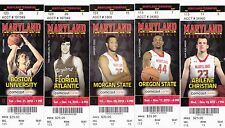 2013-14 MARYLAND TERRAPINS COLLEGE BASKETBALL TICKET STUB PICK YOUR GAME