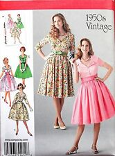 Simplicity VTG Retro 50's Rockabilly Flared Dress Sewing Pattern #1459 SIZE 8-24