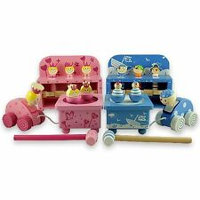 Wooden Music Box, Hammer Toys and Pull Along Twin Baby Gift