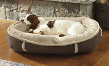 Faux-Fur Ultimate Wraparound Dog Bed With Memory Foam