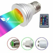 E27 GU10 MR16 RGB LED Flash Light Bulb Bombillas Home Party Decor Lamp + Remote