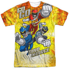 Power Rangers Dino Charge GO GO Licensed Sublimation Poly Adult Shirt S-3XL