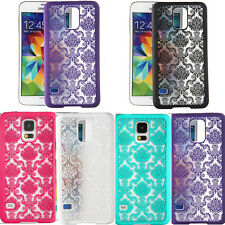Hot Vintage Damask back phone case covers for samsung Galaxy S4 i9500 S5 i9600