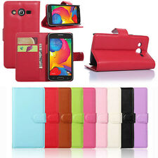 Leather Wallet Pouch Case Cover For Samsung Galaxy Core LTE SM-G386F Vogue