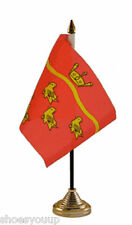 """East Sussex Polyester Table Desk Flag 6"""" X 4"""" choice of base"""
