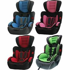 NEW BABY CHILD CAR SAFETY BOOSTER SEAT FOR GROUP 1/2/3 - 9 Months- 12 years 36kg