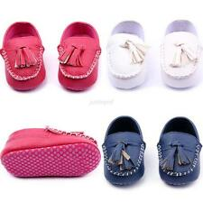 0-12M Toddler Baby Girls Boys Casual Soft Sole Peas Shoes Leather Crib Shoes New