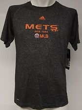 NEW Kids Youth Boys ADIDAS NY METS MLB Clima Lite Black Baseball MLB T-Shirt