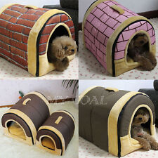 New Soft Pet Dog Bed House Kennel Mat Pad Warm Washable Puppy Cat Basket Cushion