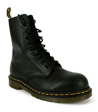 Mens Dr Martens 10 Eye Black Leather Steel Toe Cap Safety Work Boots Size 4-12