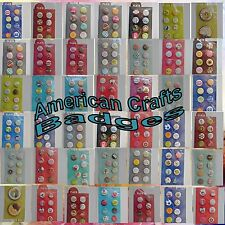American Crafts Flair Badges Scrapbooking Embellishments You Choose