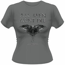 GAME OF THRONES All Men Must Die Crow GIRLIE T-SHIRT NEU