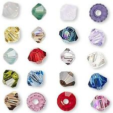 6 Swarovski Crystal 6mm Xilion Faceted Bicone Double Cone Beads W/ Facets L-Z