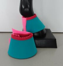 Horse Bell Boots or  Over reach Jade green & Pink AUSTRALIAN MADE Protection