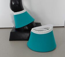 Horse Bell Boots or  Over reach Jade green & White AUSTRALIAN MADE Protection