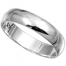PLAIN BAND THUMB RINGS 6mm Wide - 925 STERLING SILVER  IN SIZES T,U,V,W,X,Y
