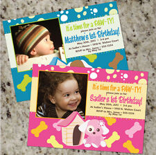 Puppy Party - Cute Girl or Boy Party Invitations - as low as .60 ea., shipped!