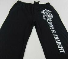Mens Womens NEW Sons of Anarchy Reaper Black Pajama Lounge Pants Sz S M L XL 2XL