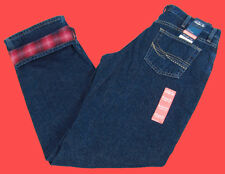 Womens As Real As Wrangler Flannel Lined Jeans Relaxed Fit WRW85GE Any Size