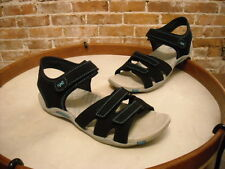 Ryka Black Perforated Sporty Backstrap Sandal NEW