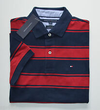 NEW Men's Tommy Hilfiger Short-Sleeve Polo Shirt, Red, Dark Blue M, L, XL