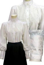 FRONTIER CLASSICS Victorian Embroidered Lace Overlay Blouse Steampunk Dickens