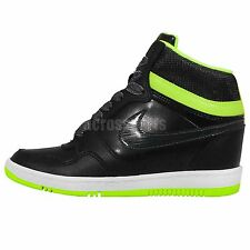 Nike Wmns Force Sky High PRM Premium Black Green Womens Wedges Casual Shoes