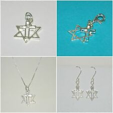 LOTS Sterling Silver 925 MESSIANIC Jewelry, Charms, Clip On, Necklaces, Earrings