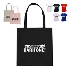 I'D RATHER BE Baritone Horn Player Music Gift Cotton Tote Bag HW