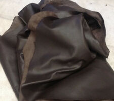 E14 Leather Cow Hide Cowhide Upholstery Craft Fabric Spinneybeck Dark Brown