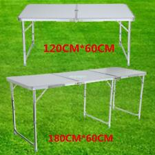 4ft / 6ft table Camping réception pliante portable pique-nique Buffet Aluminium