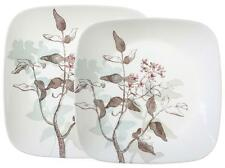CORELLE Square TWILIGHT GROVE Choose: DINNER or LUNCH PLATE Garden Floral Shadow