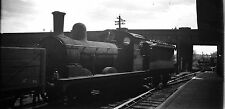GER Y14 J15 HOLDEN 0-6-0 ON FREIGHT IN STATION  BLACK WHITE NEGATIVE RAILWAY