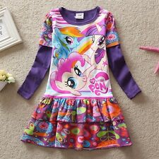NWT My Little Pony Holiday Girls Party Dress Kids Clothes Purple Sz 3 4 5 6 7 8