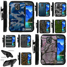 Armor Rugged Stand Holster Combo Clip Case Samsung Galaxy S5 Active Camo Skin