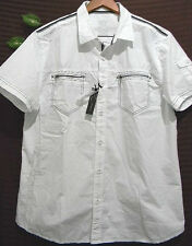 Xios  ( White,Yellow) Soft Cotton Button Up Shirt  Size 2XL NEW