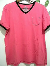 Xios Cotton  Mens Short Sleeve T-Shirts Size 2XL NEW!(Pink,Red,Yellow,White)!