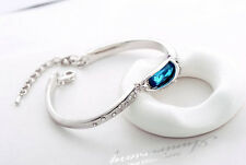 Beautiful 18k white gold SWAROVSKI Crystal Bracelet 4 Colors