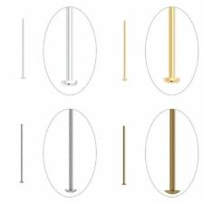 200 Silver Gold Antique Brass Quality 1 Inch Headpin Straight Bead Pins Findings