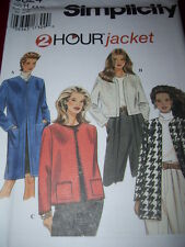 SIMPLICITY #9824 - LADIES ( 2 HOUR - GREAT FOR FLEECE ) JACKET PATTERN  6-16 uc