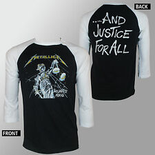 Authentic METALLICA Justice For All Album Cover Raglan Baseball T-Shirt S-XL NEW