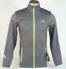 Under Armour Coldgear Infrared Gray Zip Front Fitted Running Jacket Mens NWT