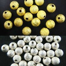 Silver Plated Round Spacer Smooth Loose Beads Charms Findings