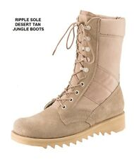 Desert Tan 10 In RIPPLE SOLE Jungle Boots Military SWAT Army Navy USAF USMC 3-13