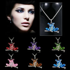 New Fashion Necklace Frog Pendant Silver Chain Women Cute Jewelry Popular Gift