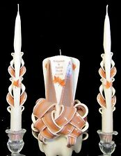 Fall Wedding unity candles. Custom w/ YOUR colors, names & date & FREE shipping!