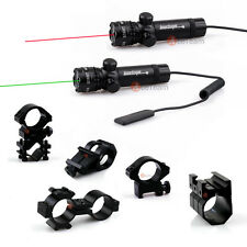 Tactical Green/RED LED Laser Scope Sight W/Remote Switch/Mount for Rifle Pistol
